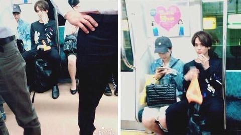 武田玲奈と元彼バトシンの電車内での画像