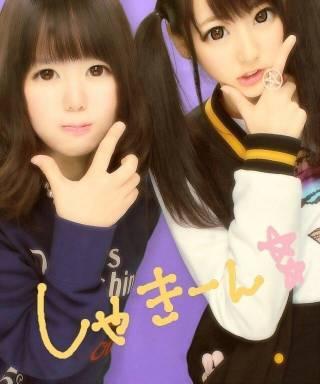 武田玲奈と友達のプリクラ2